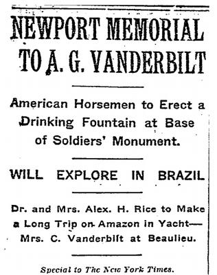 Alfred Vanderbilt Memorial on Broadway in Newport RI