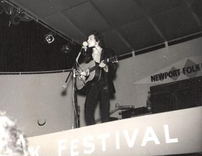 Bob Dylan perfoms at the Newport Folk Festival