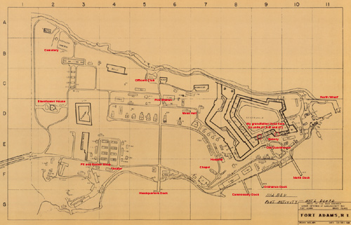 fort adams map
